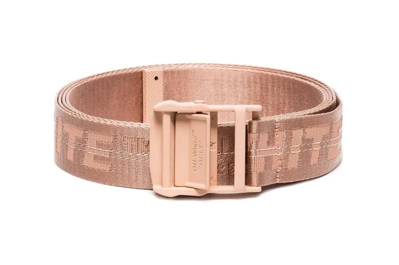 4e7b19635 Industrial Belt Salmon Peach Pink Hypebae Off White Industrial Belt Salmon  Peach Pastel Pink