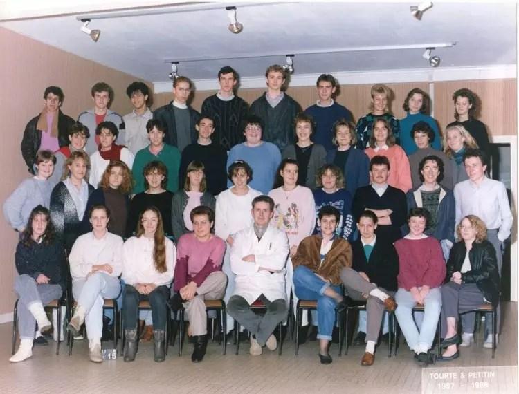 Photo de classe Terminal B de 1987 Lyce Pierre Forest  Copains davant