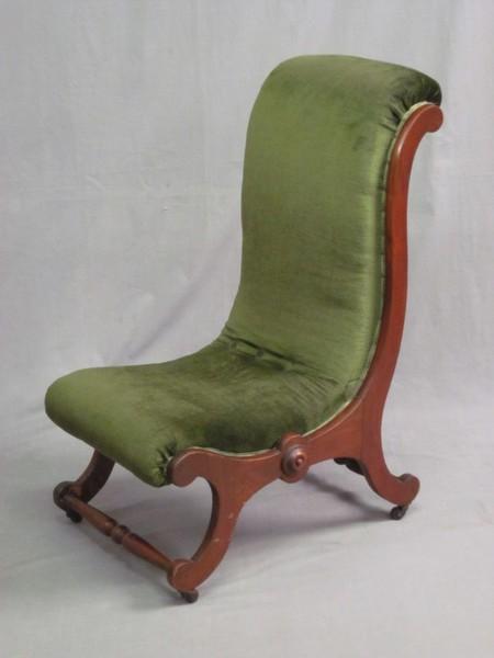 A Victorian mahogany show frame nursing chair  1st