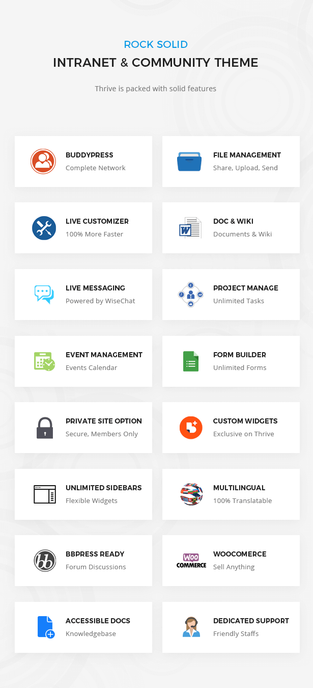 Thrive More Features