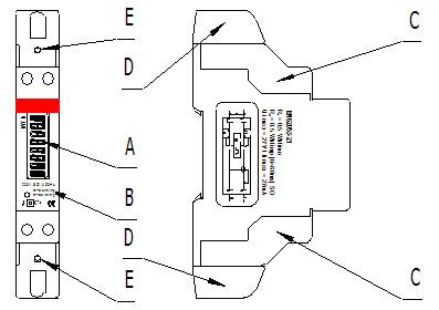 DDS5188 Digital LCD 220V Single Phase DIN-Rail 5-30A