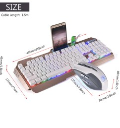 led backlit wired usb gaming keyboard 2000dpi optical  [ 1001 x 1001 Pixel ]