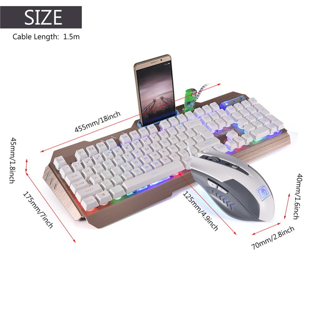 medium resolution of led backlit wired usb gaming keyboard 2000dpi optical