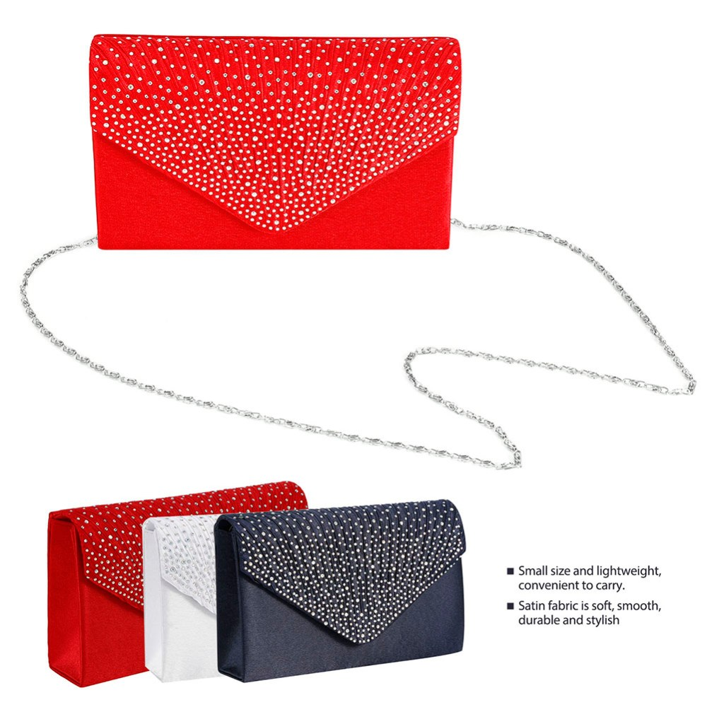 medium resolution of image is loading women 039 s crystal satin envelope wallet evening