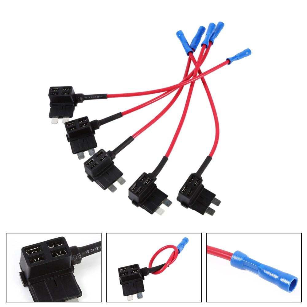 medium resolution of details about 5x circuit medium standard blade fuse box holder piggy back tap kit diy new co