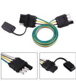 details about 6 12 24v 4 pin flat pvc trailer light plug wire harness connector for caravan af [ 1001 x 1001 Pixel ]