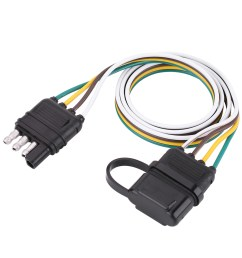 details about american trailer wiring harness plug 6v 12v 24v 4 pin flat wire connector black [ 1001 x 1001 Pixel ]