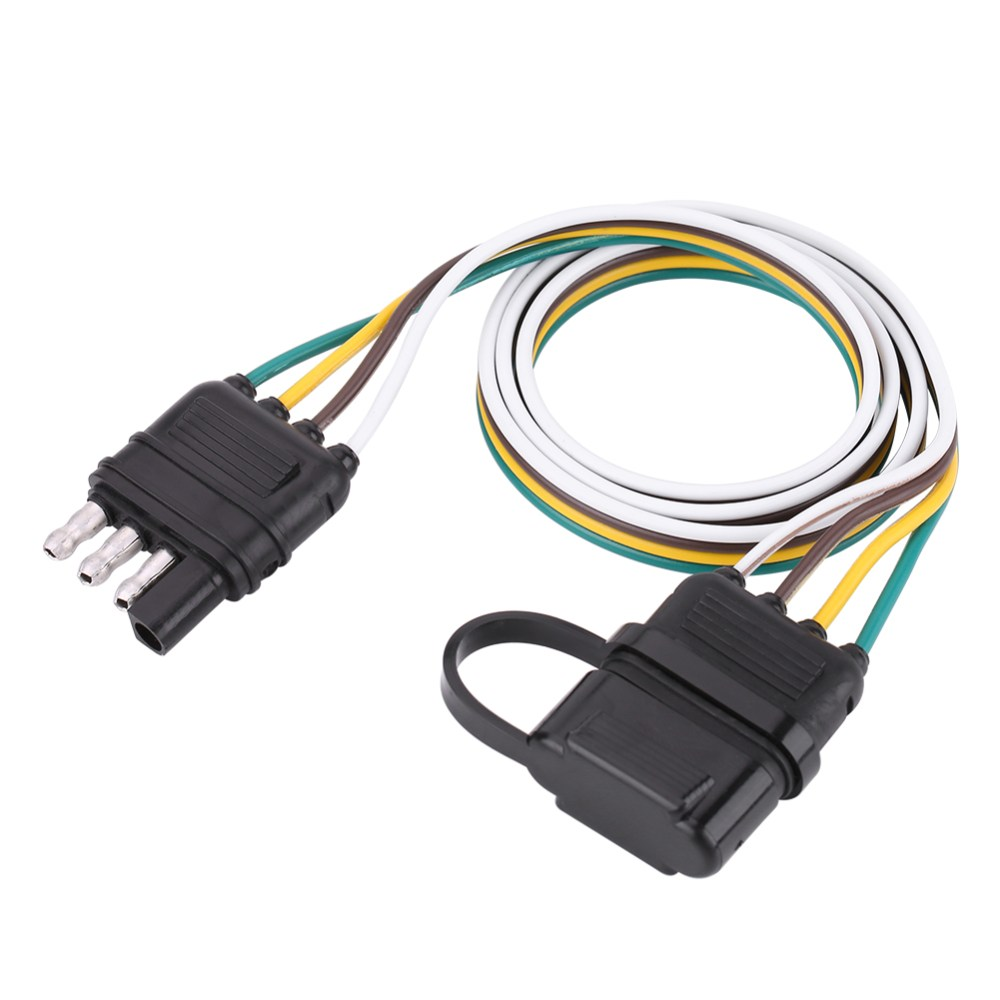 medium resolution of details about american trailer wiring harness plug 6v 12v 24v 4 pin flat wire connector black