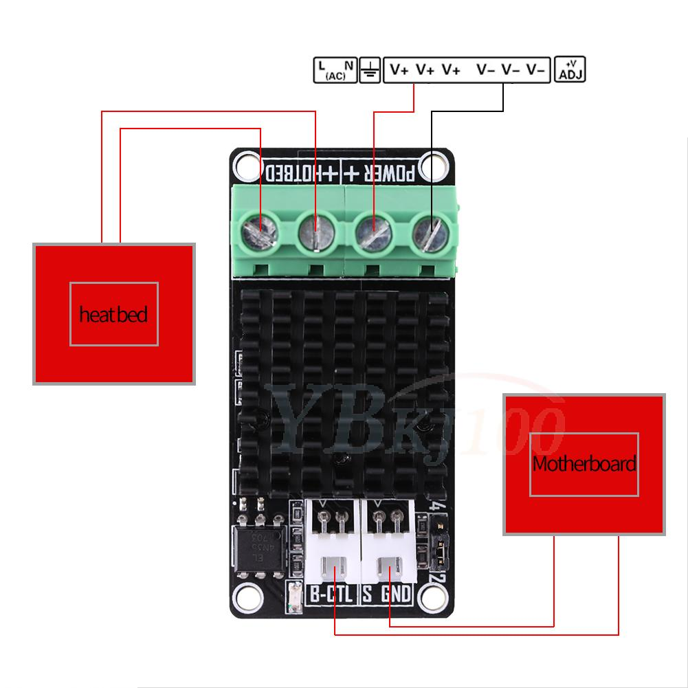hight resolution of details about 1x 3d printer heating controller mosfet for heat bed extruder mos module 30a af
