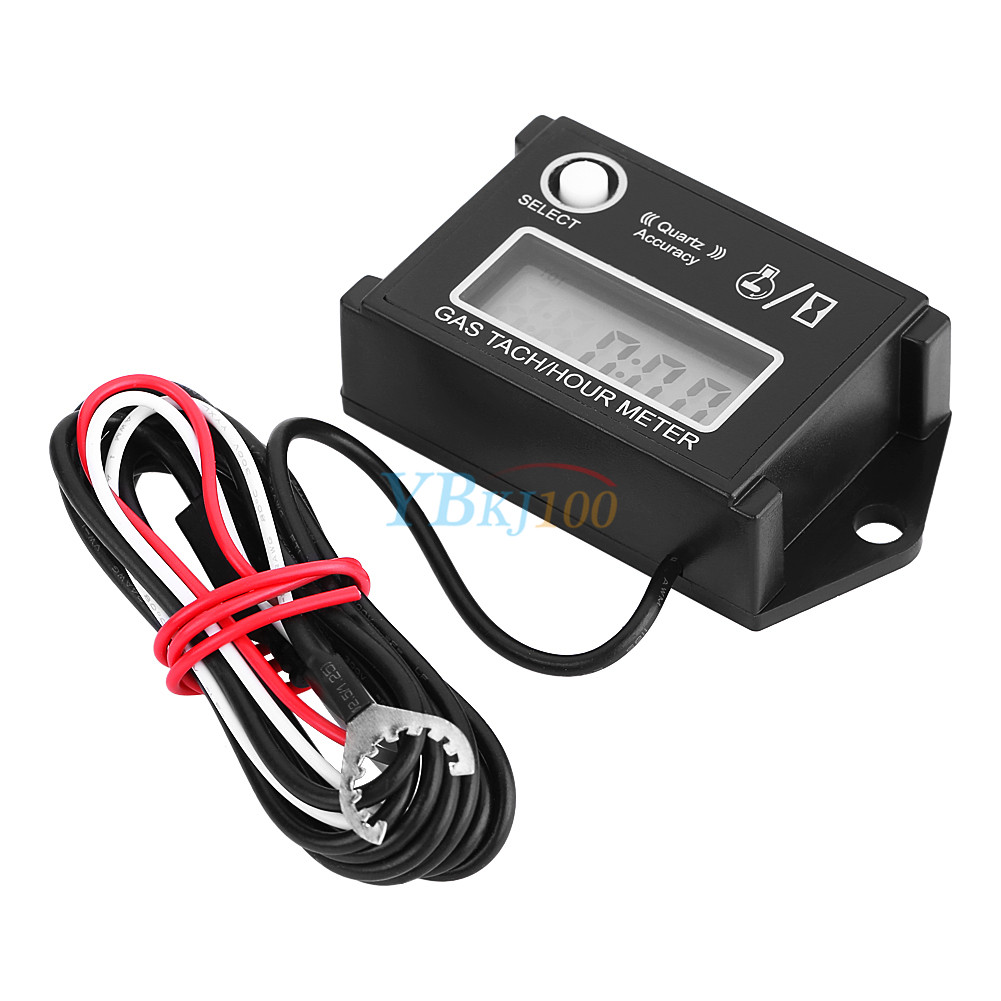 hight resolution of details about tach hour meter digital lcd display rpm tachometer for go kart gas engine atv eb