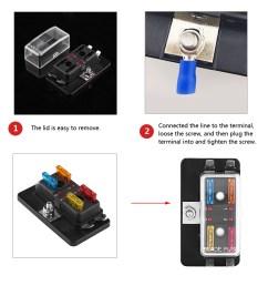 car 4 way circuit standard ato atc blade fuse box holder w led warning light zy [ 1001 x 1001 Pixel ]