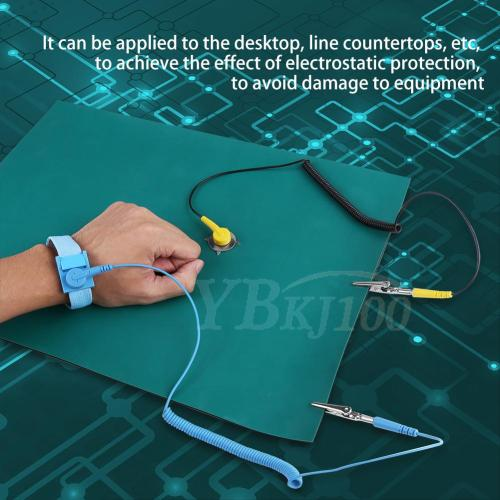 small resolution of 1pc esd anti static wrist strap ground wire blanket mat for phone repair