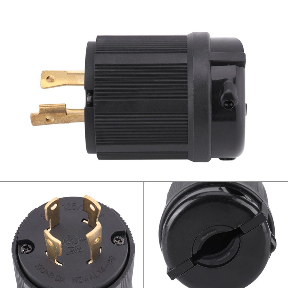 medium resolution of details about nema l14 30p twist lock plug 3 pole 4 wire 30amp 125 250v generator connector