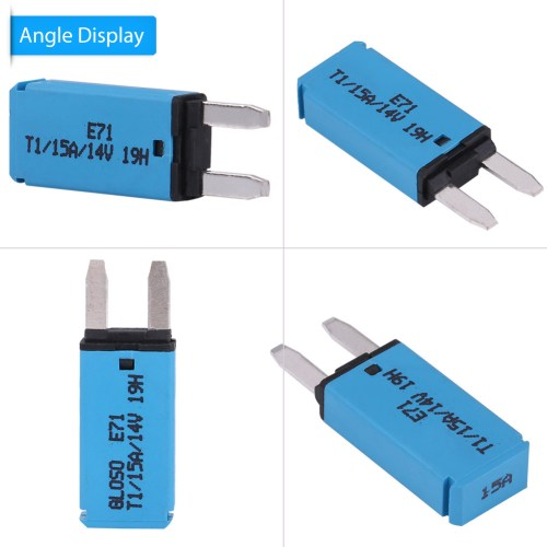 small resolution of details about new 15a 14v automatic reset mini circuit breaker blade fuse for car vehicle blue
