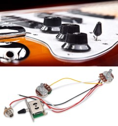 electric guitar wiring harness kit set 3 way toggle switch 1 volume 1 tone 500k [ 1001 x 1001 Pixel ]