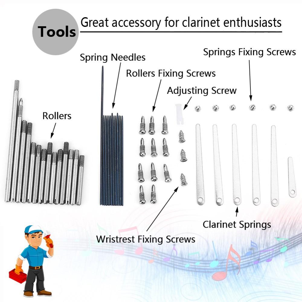 medium resolution of 1 set of clarinet repair screw parts 7 maintenance tools for woodwind clarinet