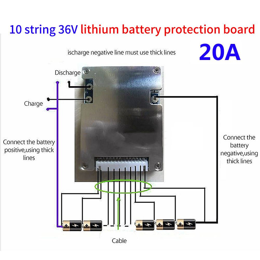4s bms wiring diagram 1985 chevy c10 truck 3s 5s 7s 10s pcb protection board for 18650 li ion lithium details