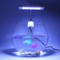 220V 48 LEDs Aquarium Clamp Clip Lamp Light Fish Tank