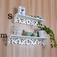 White Wood Home Decorative Wall Shelf Set Display Floating ...
