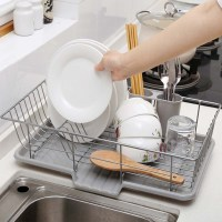 Large Dish Drainer Metal Wire Cutlery Draining Holder ...
