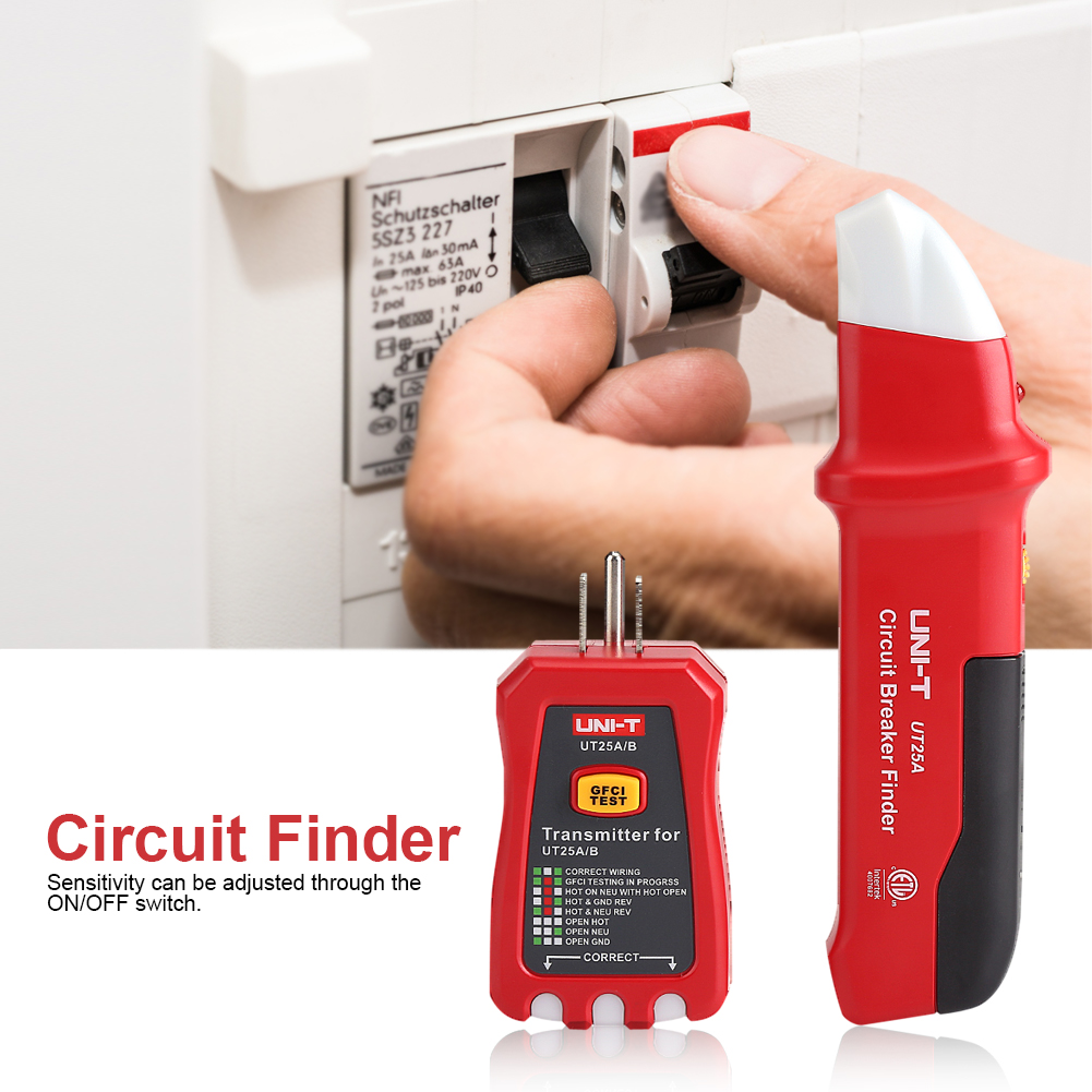 Ut25a B Led Automatic Electrical Circuit Breaker Finder