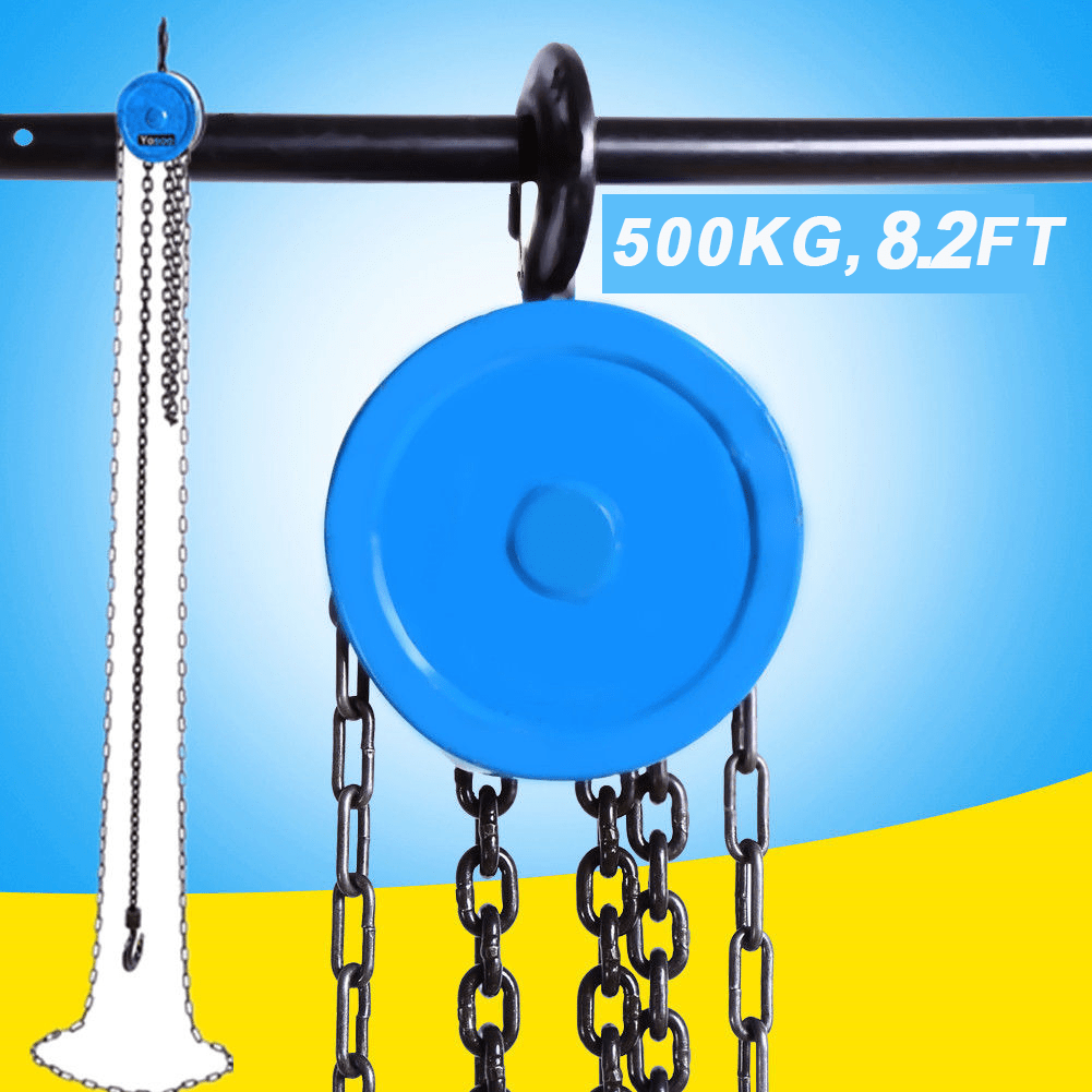 hight resolution of details about 2 5m 8 2ft pulley chain block chain hoist cable hand control pulley crane