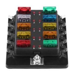 10 way auto car blade fuse box holder led light kit 5 10 15 20 25 30 amp ato atc [ 1001 x 1001 Pixel ]