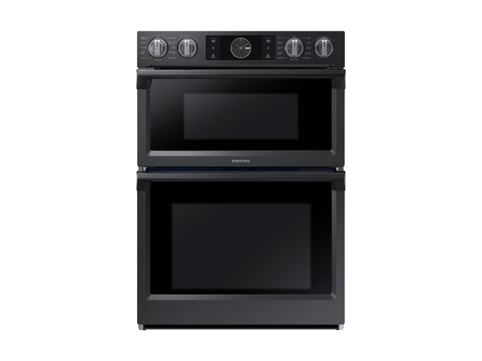 30 smart microwave combination wall oven with flex duo in black stainless steel