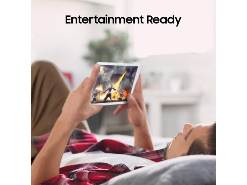 "Larger View of Samsung Galaxy Tab A 8.0"" (2019), 32GB, Silver (Wi-Fi)"
