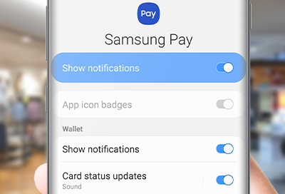 manage notifications from samsung