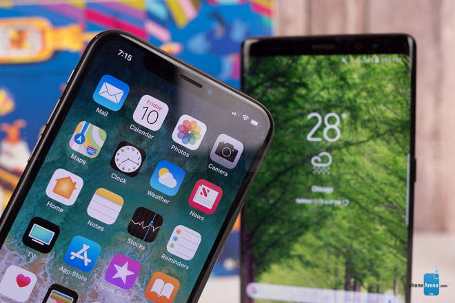 """So sánh iPhone X với Galaxy Note 8: """"Cuộc chạm trán nảy lửa"""" - 8"""
