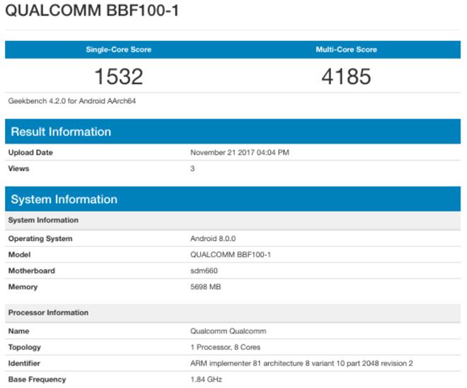 BlackBerry KEYone kế nhiệm sẽ có RAM 6GB - 1