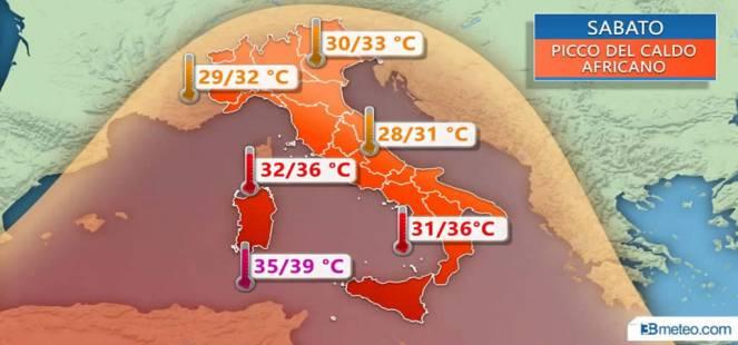 Meteo Italia: caldo africano in arrivo