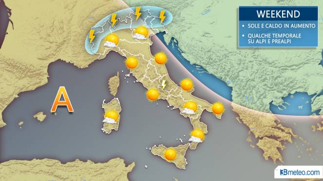Meteo Italia: la situazione attesa nel weekend nel dettaglio