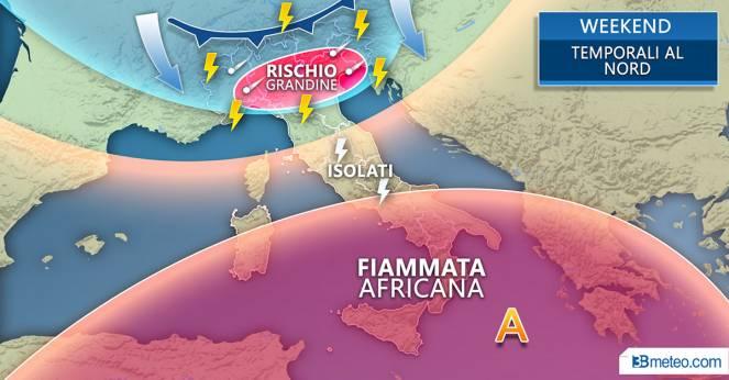Meteo Italia: la situazione prevista nel weekend