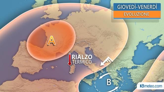Meteo Italia: situazione attesa tra giovedì e venerdì
