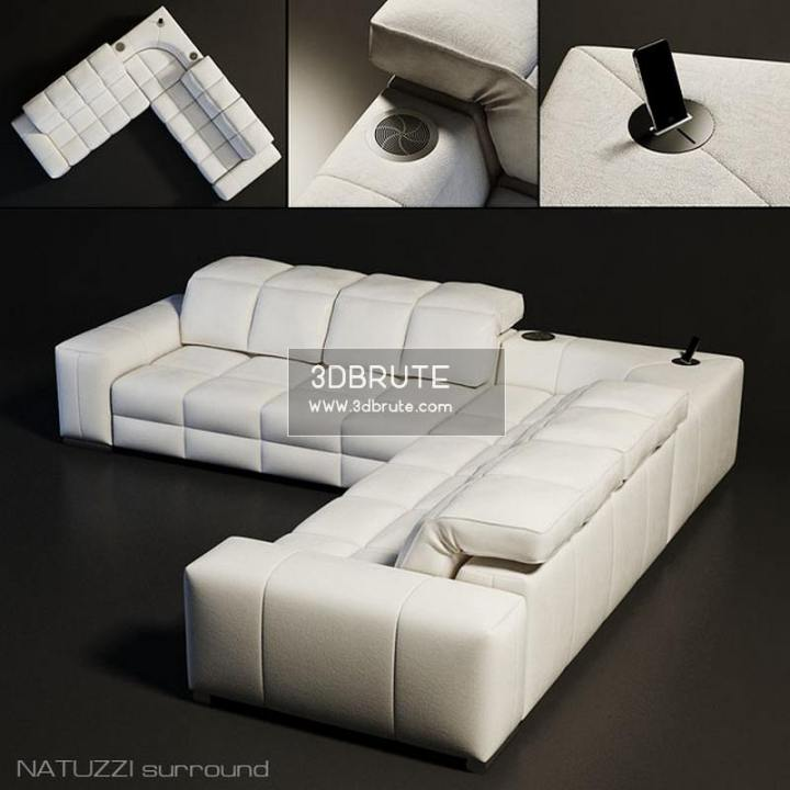 Sofa Features Smax Vray Textures Model Size 10 Mb
