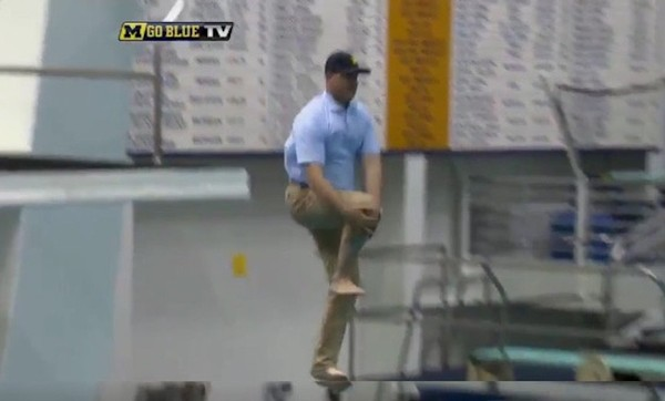 Image result for Jim Harbaugh high dive