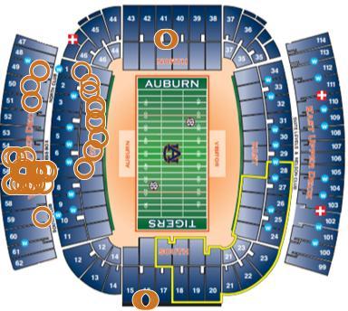 Auburn football stadium seating map footballupdate co