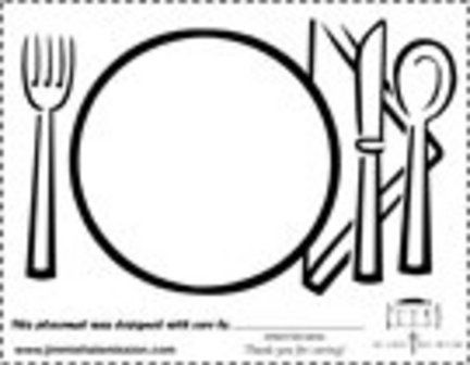 Jimmie Hale Project Placemats: Print, Color & Mail-in for