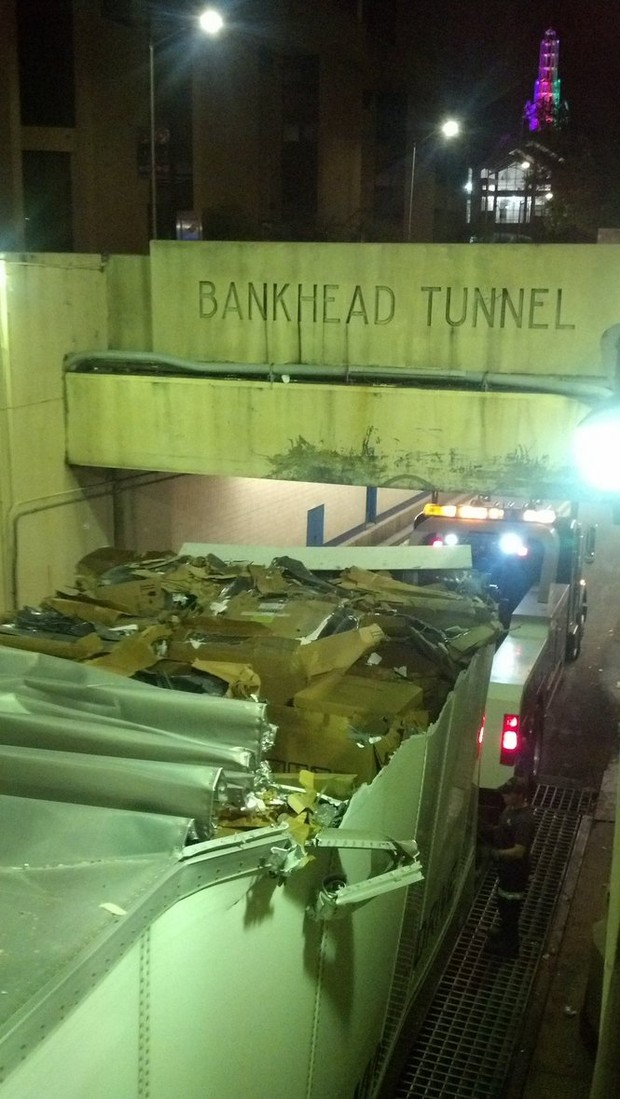 Update Bankhead Tunnel open after five hours of clearing