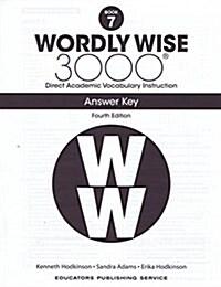 알라딘US: (4판)Wordly Wise 3000: Answer Key 7 (Paperback, 4th