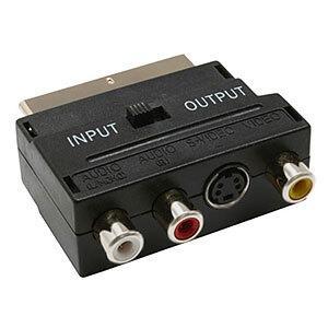 SCART ADAPTER Met input/output schakelaar