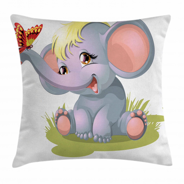 elephant nursery throw pillow cases cushion covers home decor 8 sizes ambesonne home decor home garden