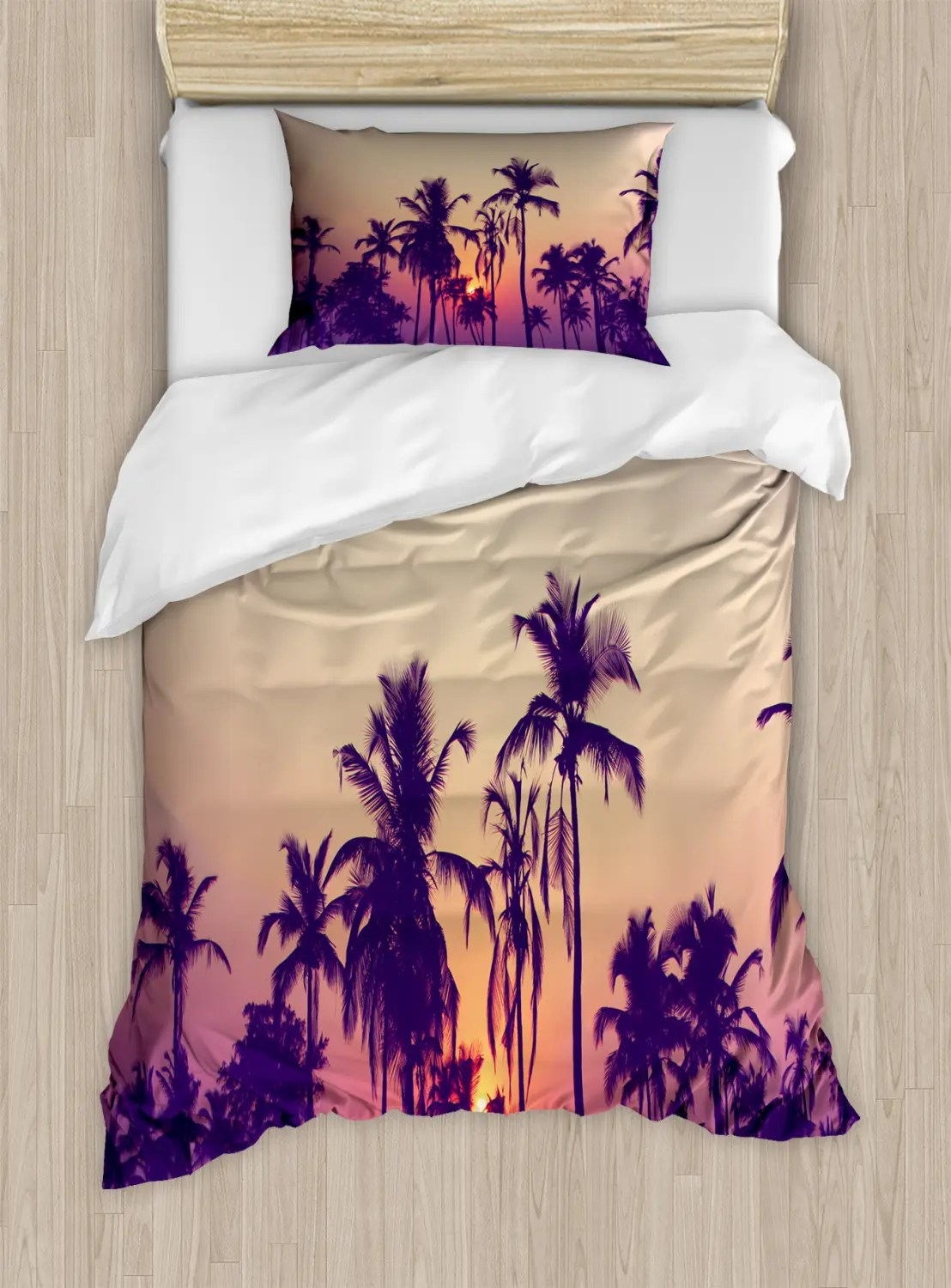Sonnenuntergang Bettwäsche Set Tropical Sunset Palmen Ebay