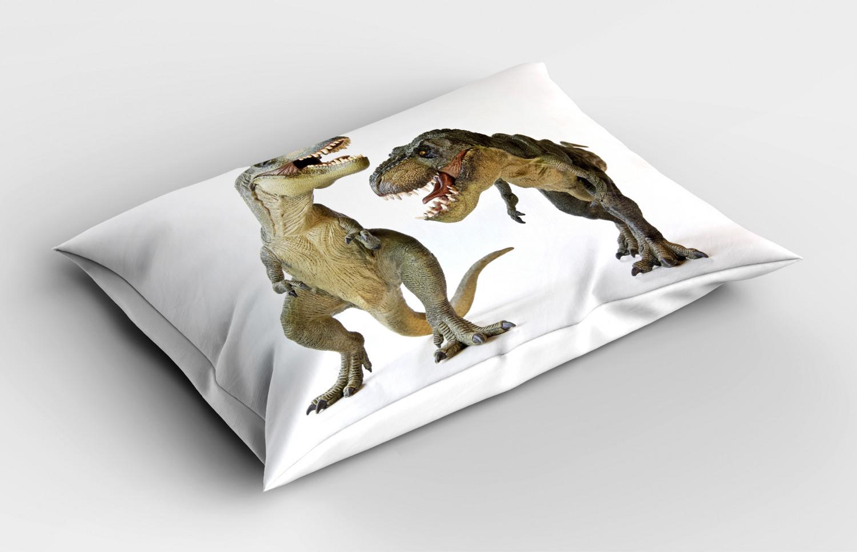 Dinosaur Pillow Sham Decorative Pillowcase 3 Sizes Bedroom