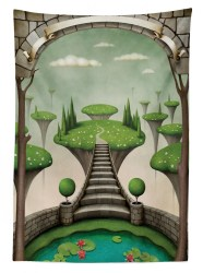 fantasy dining ambesonne tablecloth kitchen table