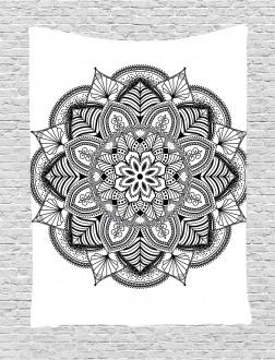 mandala black white art