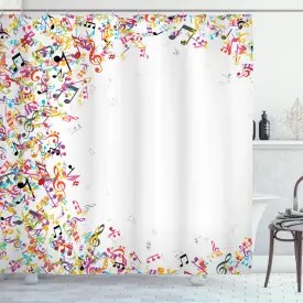 music shower curtains 100 music