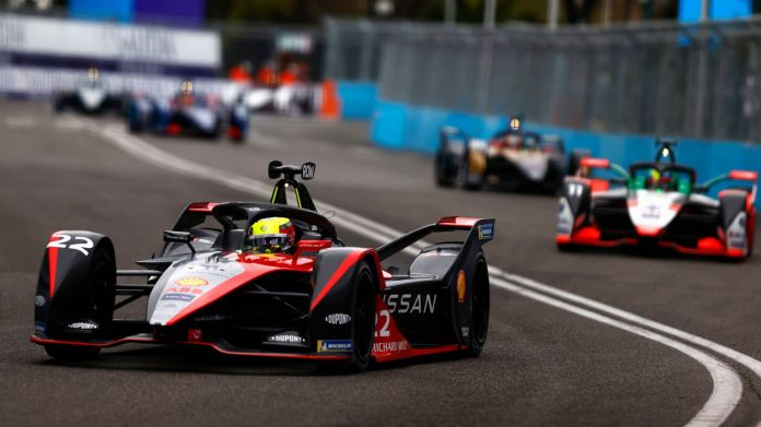 Early race leader Oliver Rowland was given a drive-through penalty and finished 13th. (Pic: Formula E)